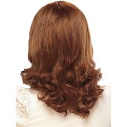 Parrucca bella riccia rossa solo capelli vergini -