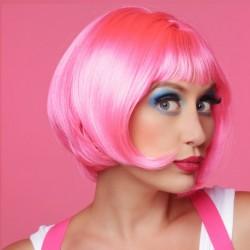 Parrucca caschetto rosa per drag queen -