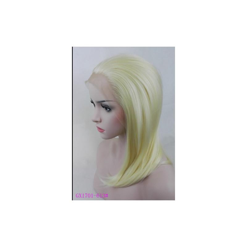 Parrucca Gialla Donna sintetica -