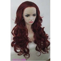 Parrucca Rossa Riccia Lunga Donna sintetica -