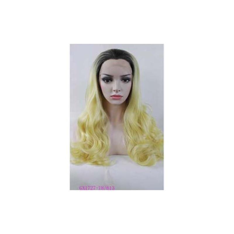 Parrucca gialla e nera  Donna sintetica -
