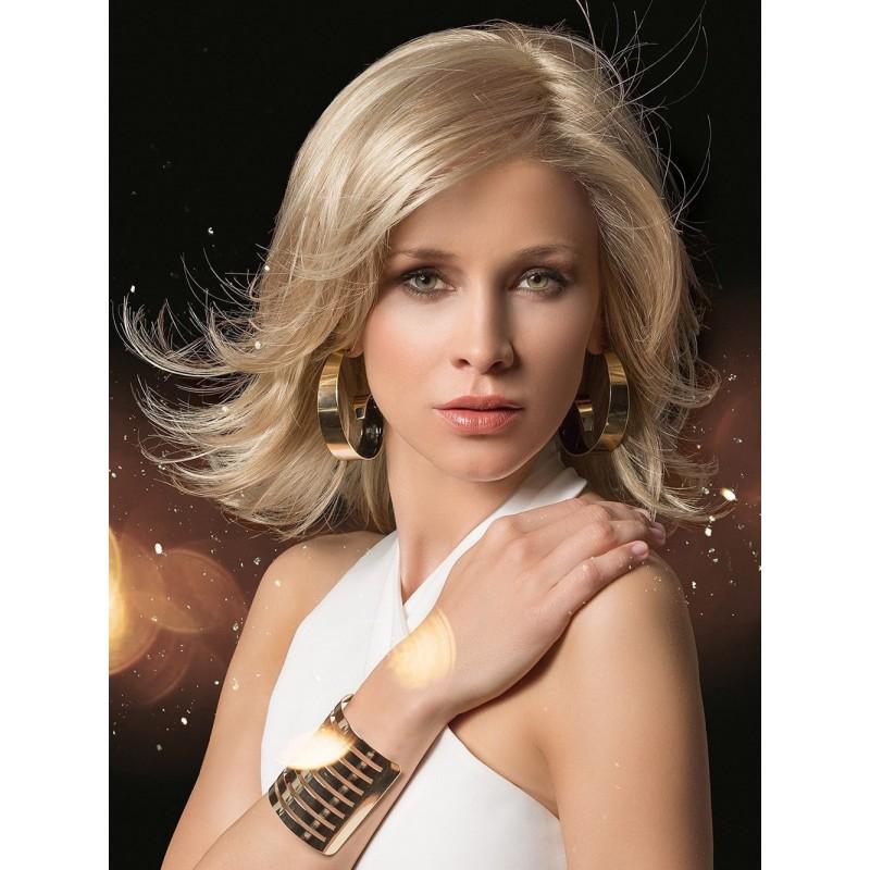 Parrucca  bionda con capelli ondulati  sintetica Modello  A4 -