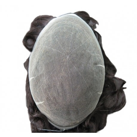 FRENCH LACE Nodi scoloriti densità 100%  o (110%) dimensioni circa 20x25 capelli Remy Indiani alta qualità l