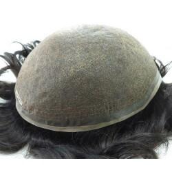PROTESI REALIZZATA CON CAPELLI VERGINI Welden Mono Dimensioni 19,4x24,4 capelli vergini ritagliabile e ridimensionabile