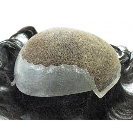 PROTESI REALIZZATA CON CAPELLI VERGINI BELLA Dimensioni 19,4x24,4 capelli vergini ritagliabile e ridimensionabile . St