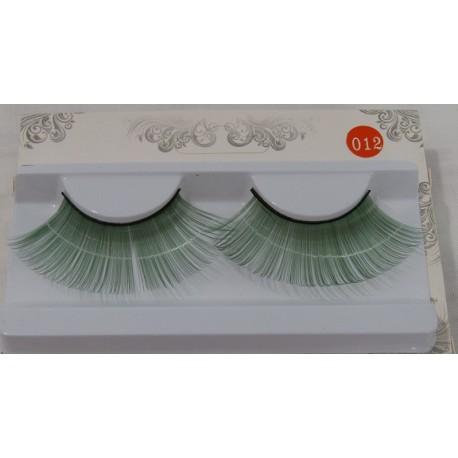 Ciglia colorate verdi In materiale sintetico Da applicare con apposita colla. Ideali per feste e spettacoli. -